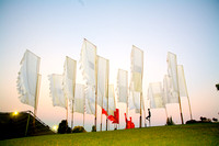 Festival flags at Sidney Myer Music Bowl